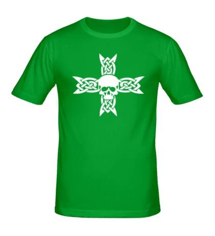 Мужская футболка Череп на кельтском кресте