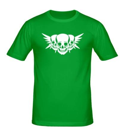 Мужская футболка Три черепа с крыльями