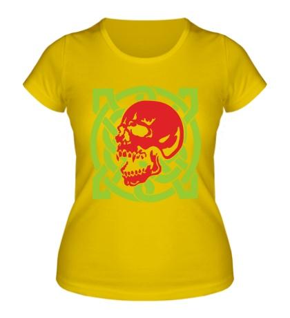 Женская футболка Кельтский череп