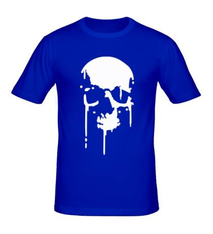 Мужская футболка Стекающий череп