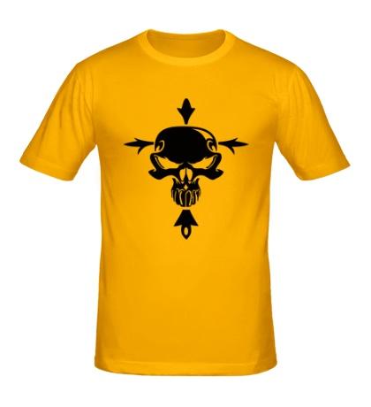 Мужская футболка Череп с крестом