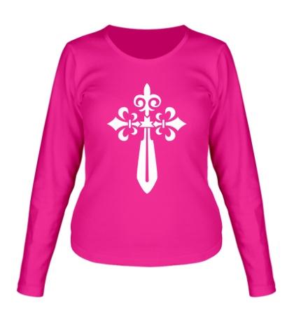 Женский лонгслив Крест-меч