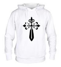 Толстовка с капюшоном Крест-меч