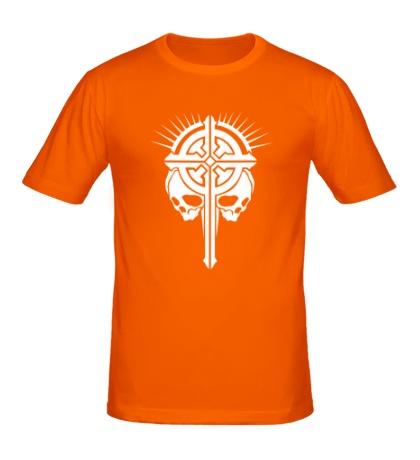 Мужская футболка Крест с черепами