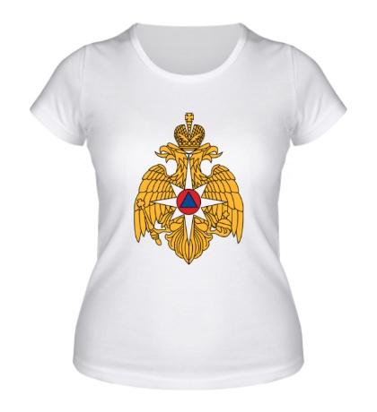 Женская футболка Герб МЧС России