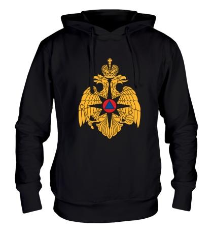 Толстовка с капюшоном Герб МЧС России