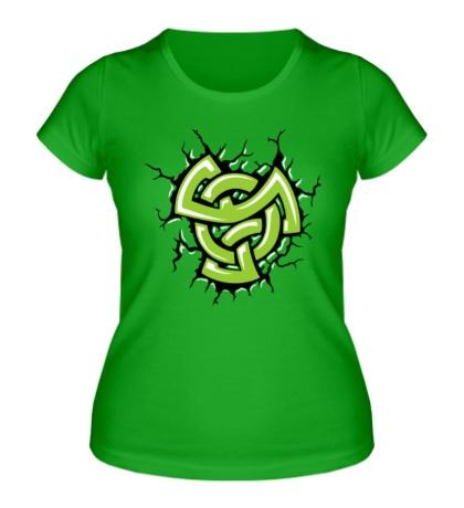 Женская футболка Духовный кельтский узел