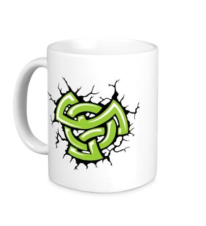 Керамическая кружка Духовный кельтский узел
