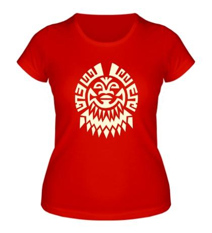 Женская футболка Маска майя