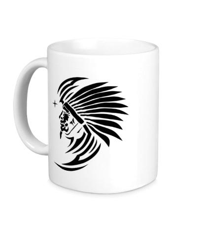 Керамическая кружка Древний индеец