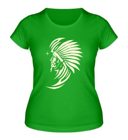 Женская футболка Древний индеец, свет