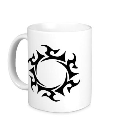 Керамическая кружка Солнечный узор