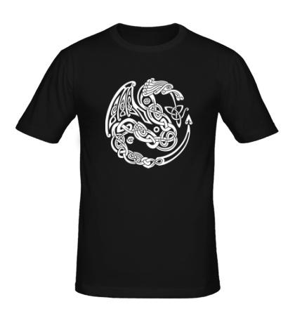 Мужская футболка «Кельтский дракон»