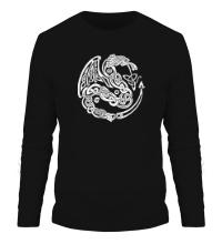 Мужской лонгслив Кельтский дракон