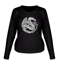 Женский лонгслив Кельтский дракон