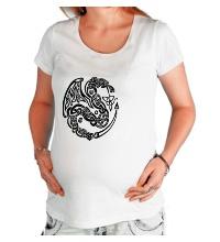 Футболка для беременной Кельтский дракон