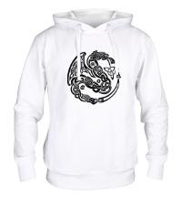 Толстовка с капюшоном Кельтский дракон