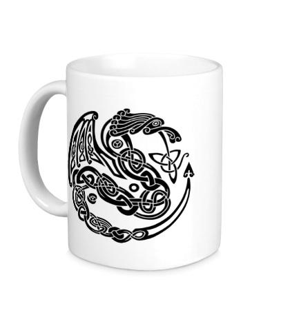 Керамическая кружка Кельтский дракон