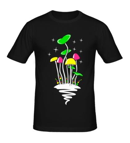 Мужская футболка Кислотные грибы