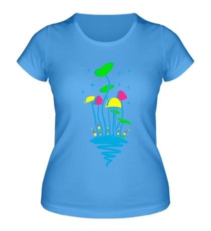 Женская футболка Кислотные грибы