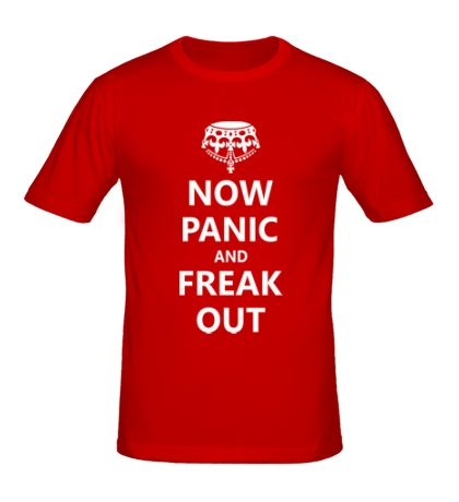 Мужская футболка Now panic and freak out