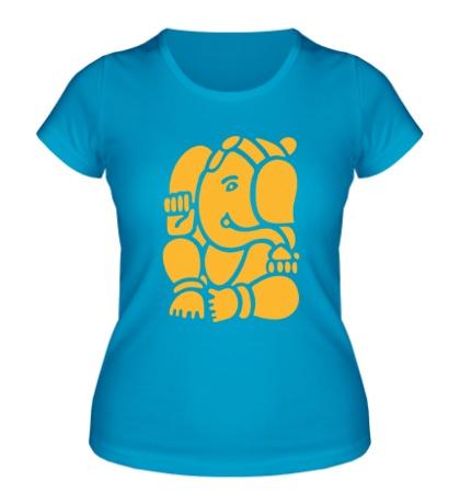 Женская футболка Ганеша Ганапати
