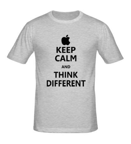 Мужская футболка Keep calm and think different