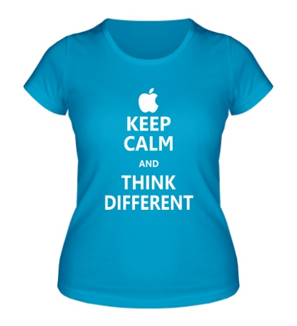 Женская футболка Keep calm and think different