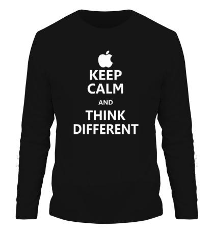 Мужской лонгслив Keep calm and think different