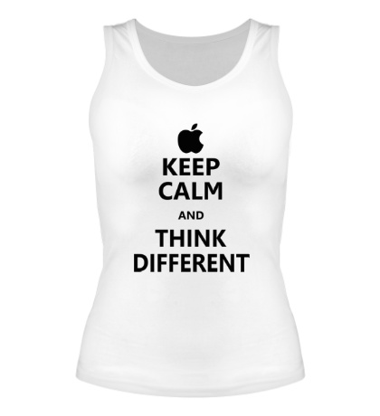 Женская майка Keep calm and think different