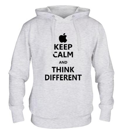 Толстовка с капюшоном Keep calm and think different