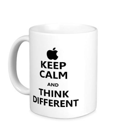 Керамическая кружка Keep calm and think different
