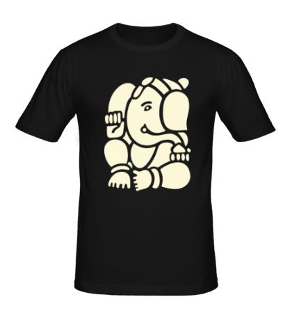 Мужская футболка Ганеша Ганапати, свет