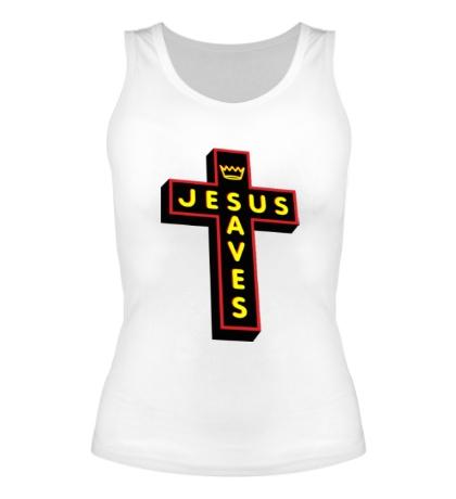 Женская майка Jesus Saves Cross