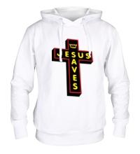 Толстовка с капюшоном Jesus Saves Cross