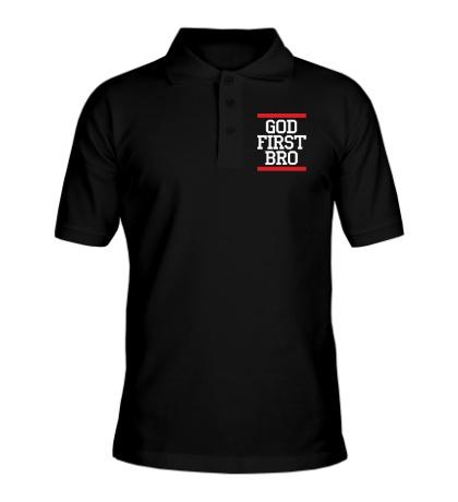 Рубашка поло God first bro