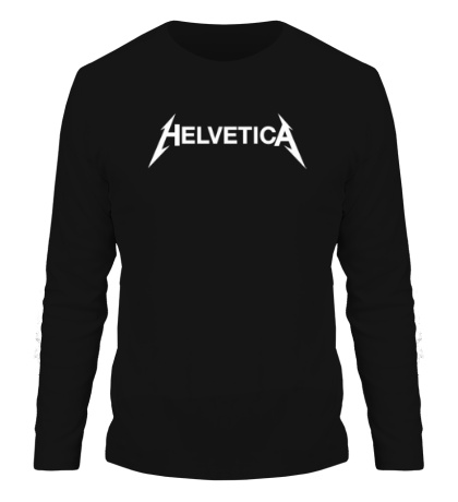 Мужской лонгслив Helvetica Metallica