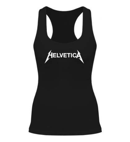Женская борцовка Helvetica Metallica