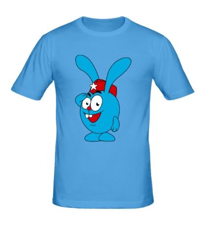 Мужская футболка Зайчик и 23 февраля