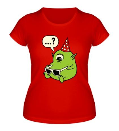 Женская футболка Циклоп с очками, свет