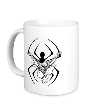 Керамическая кружка Dark Spider-Man