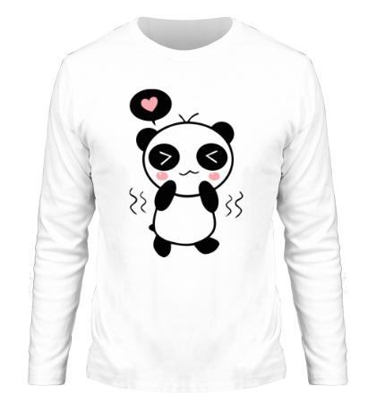 Мужской лонгслив Влюбленная панда мальчик