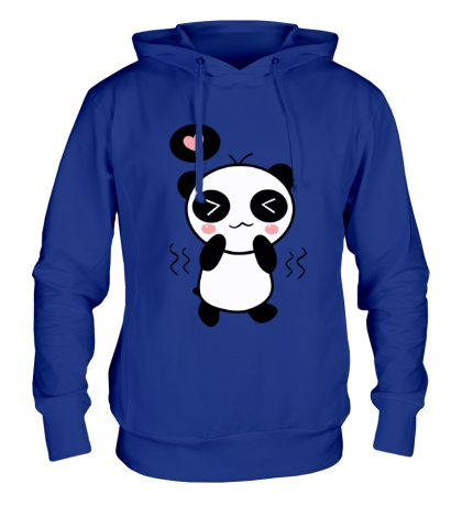 Толстовка с капюшоном Влюбленная панда мальчик
