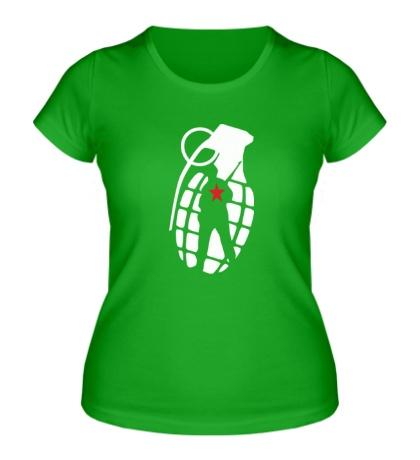 Женская футболка Граната солдата