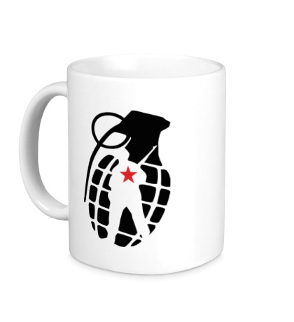 Керамическая кружка Граната солдата