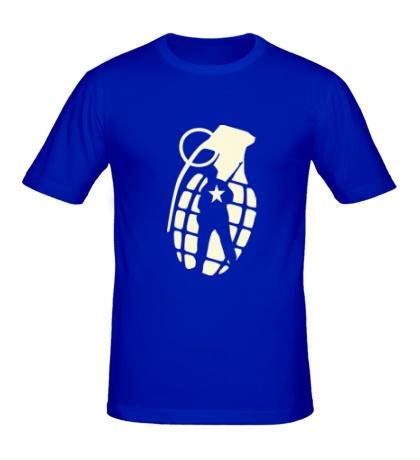 Мужская футболка Граната солдата, свет