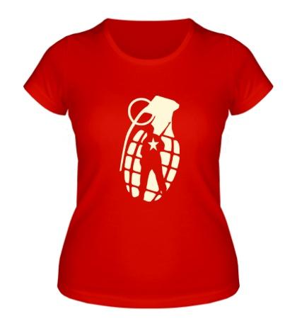 Женская футболка Граната солдата, свет