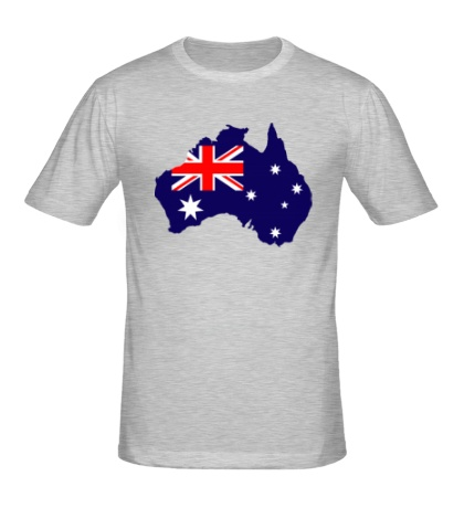 Мужская футболка Карта Австралии