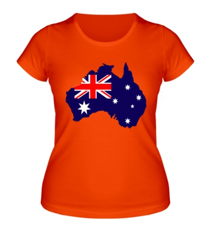 Женская футболка Карта Австралии