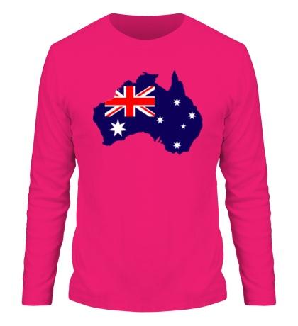 Мужской лонгслив Карта Австралии
